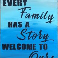 11x14 Flat Canvas Family Story Painting