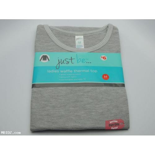 Grey Ladies Waffle Thermal Top - Size Medium - NEW