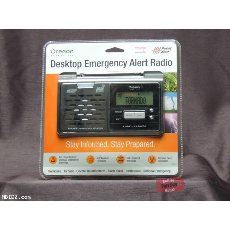 Oregon Scientific WR608 Emergency Alert NOAA Weather Radio with SAME