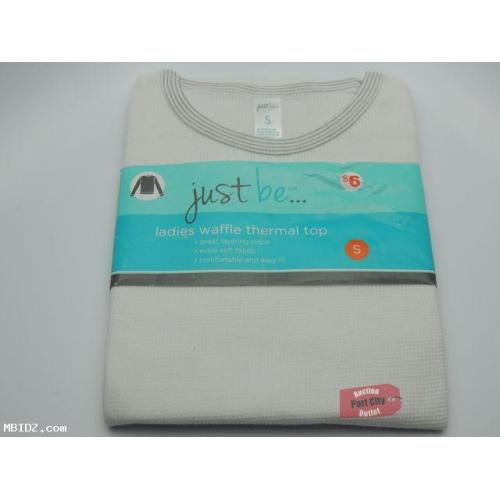 White Ladies Waffle Thermal Top - Size Small - NEW