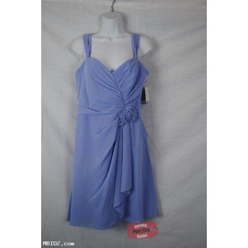 NEW David's Bridal Bluebird Sleeveless Chiffon Dress Size 8