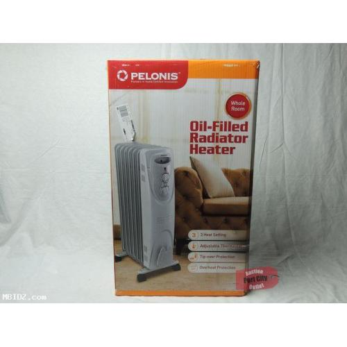 PELONIS HO-0201B 1,500 Watt Portable Oil-Filled Electric Radiator Heater