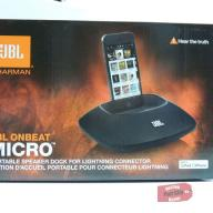JBL OnBeat Micro Speaker Dock with Lightning Connector - Black - New