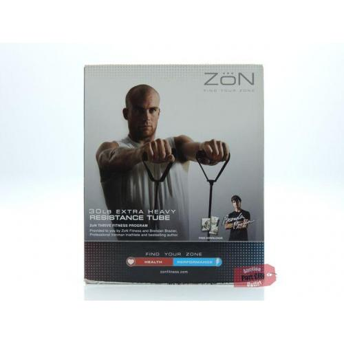 ZoN Fitness 30lb Extra Heavy Resistance Tube - Black - 1 Tube -NEW IN BOX