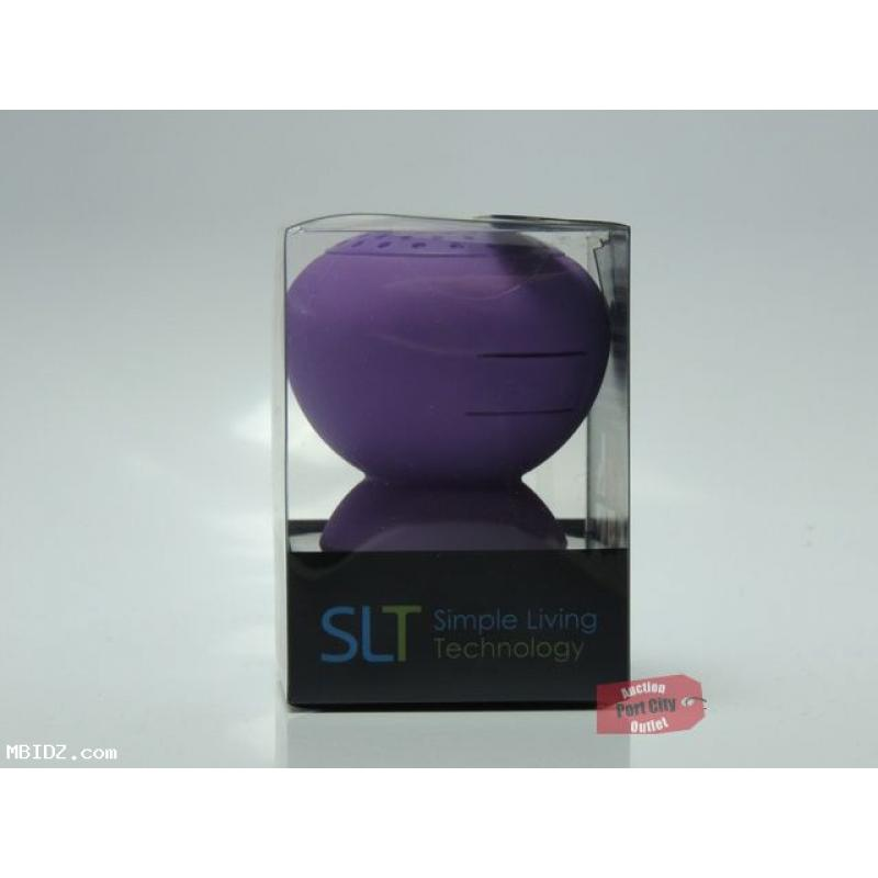 SLT Stickup Silicone Water Resistant Bluetooth Speaker - Purple - New