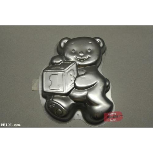 Wilton 1995 Teddy Bear With Block Cake Pan 2105-8257 (Retired)